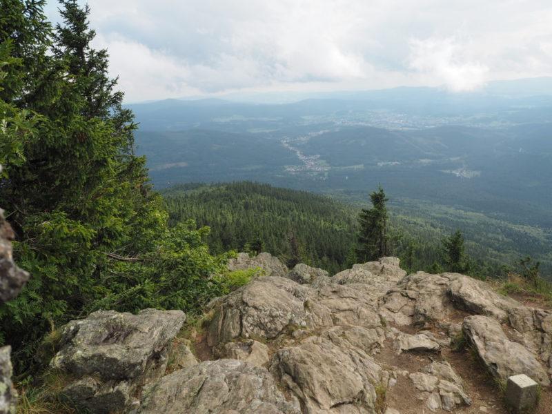 Aussicht vom kleinen Falkenstein im Bayerischen Wald