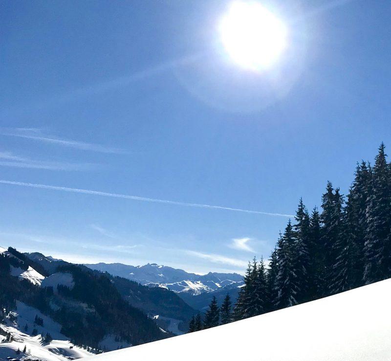 Aussicht auf die Hohen Tauern bei er Skitour im Großarltal