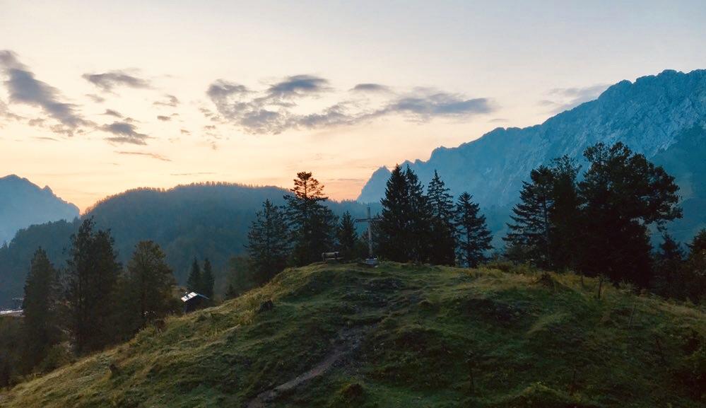 Sonnenaufgang am Weinbergerhaus, Kufstein, Kaisergebirge