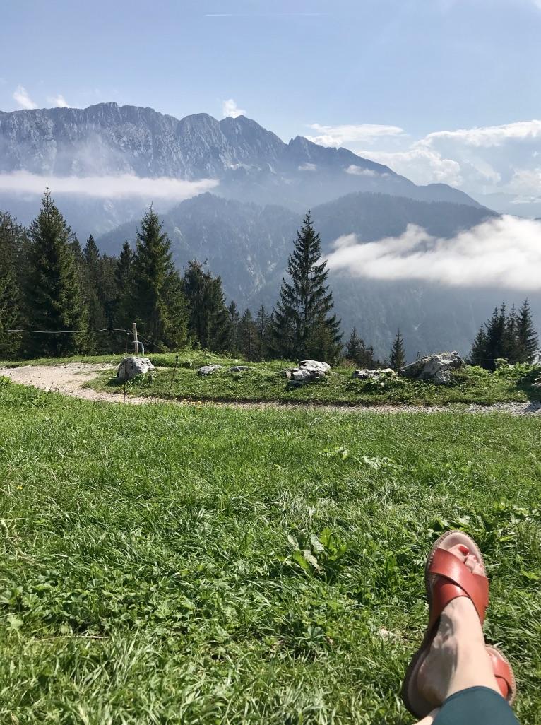 Aussicht Vorderkaiserfeldenhütte Kaisergebirge