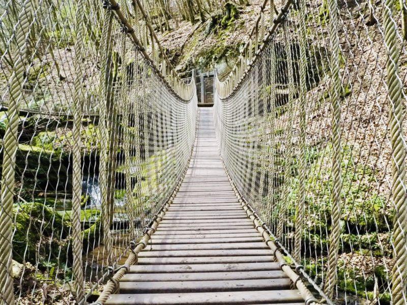 Hängebrücken auf dem Römerpfad in der Eifel