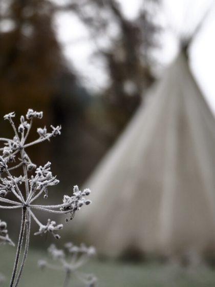 Eisige Morgenstimmung am Campingplatz Schafbachmühle, Eifel