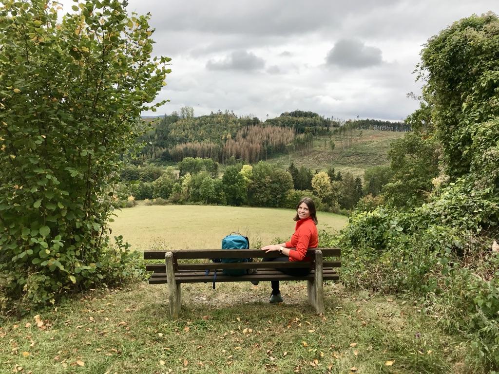 Osterbergweg: Rast mit Weitblick