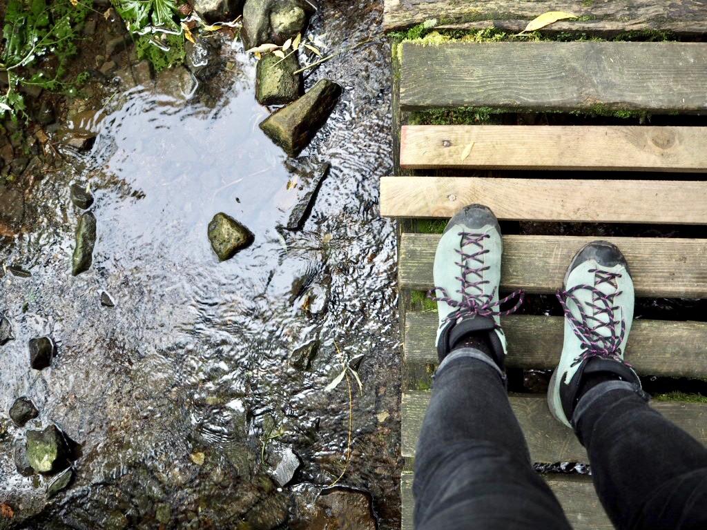 Osterbergweg: Wandern über Stege