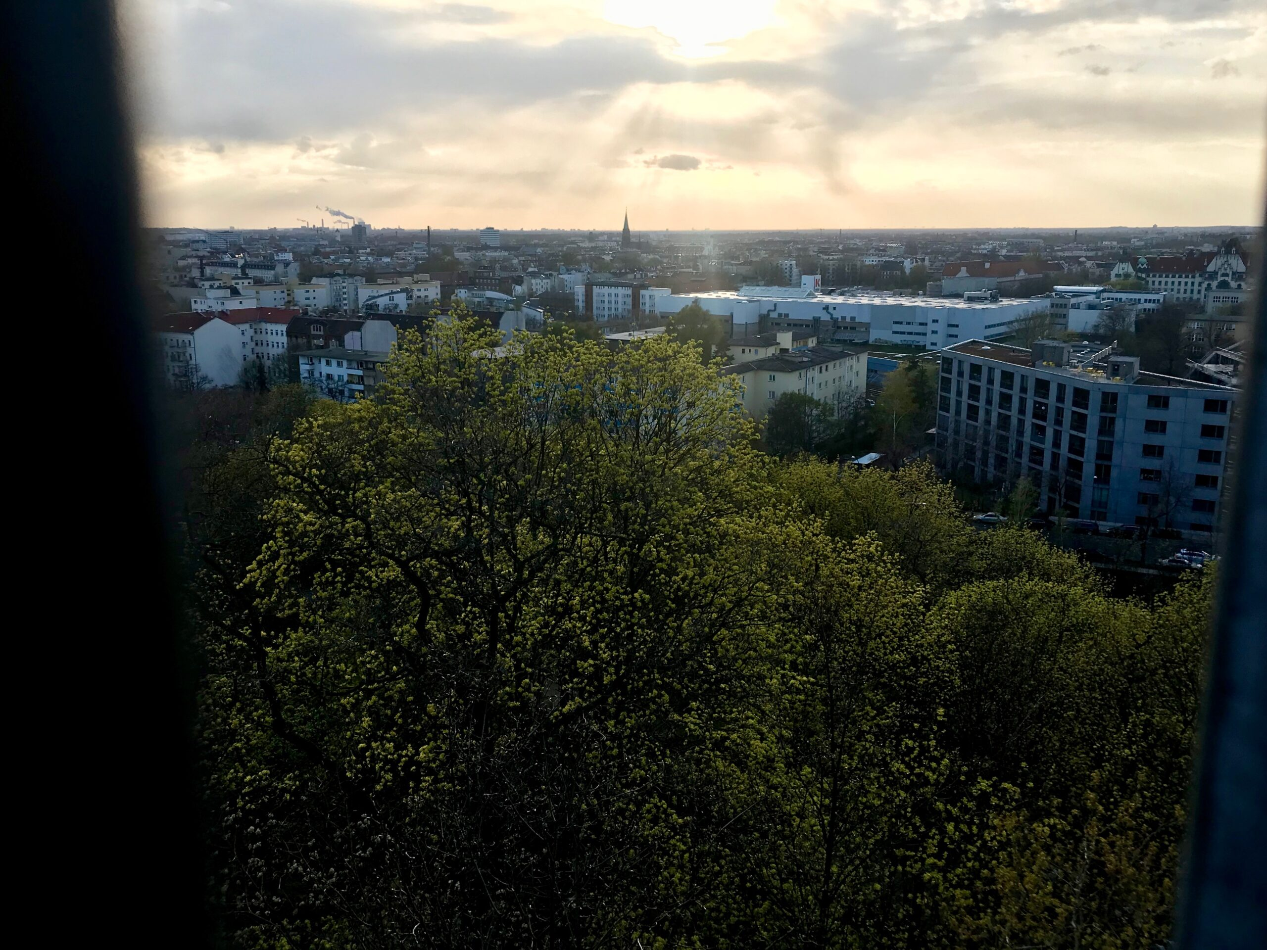 Aussicht Flakturm Humboldthain, Wedding, Berlin