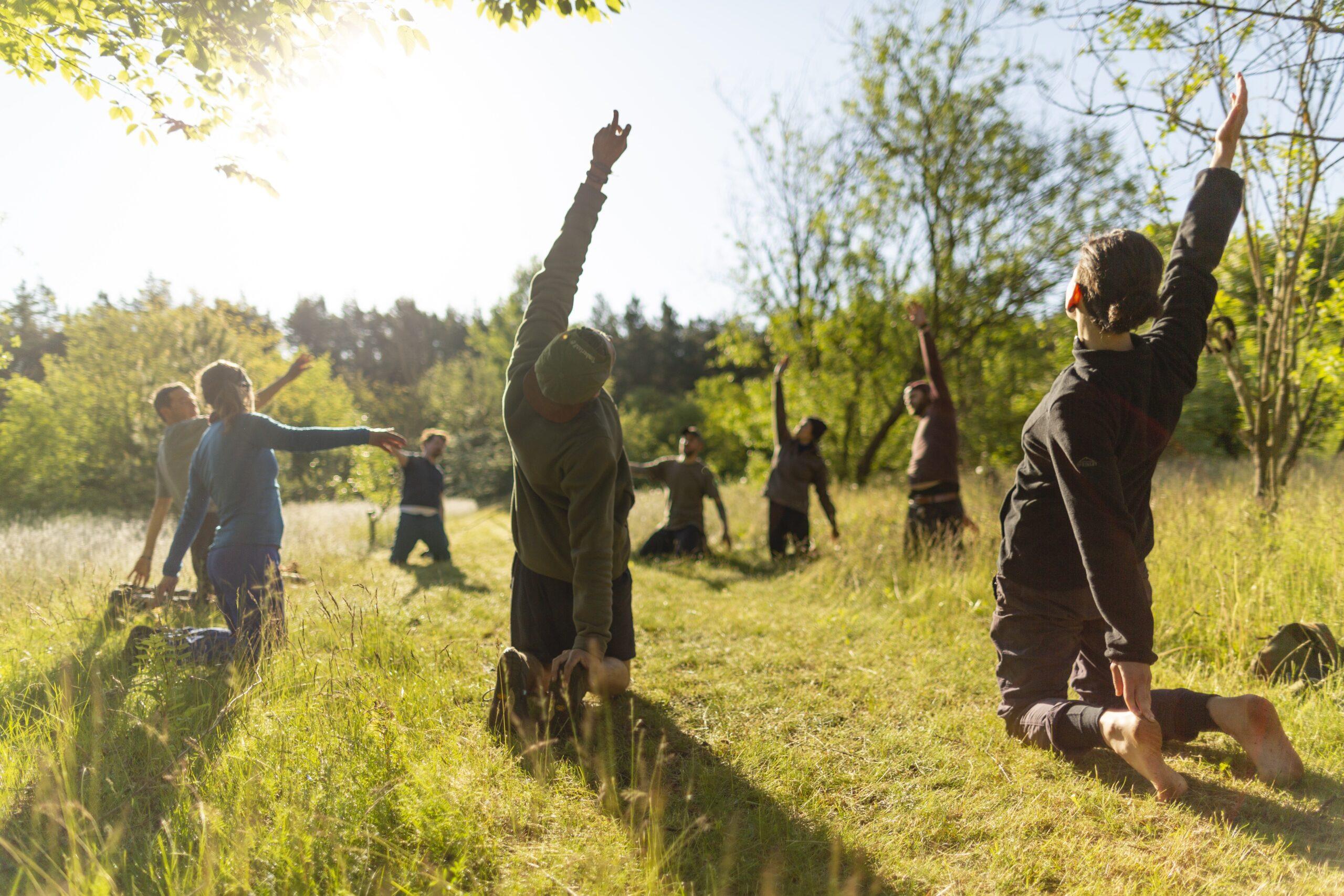 Wildnispädagogik-Ausbildung: Morgensport